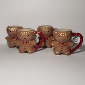 Set of 4 Target Threshold Gingerbread Man Mugs